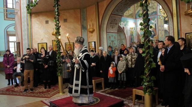 Управляющий Московской епархии Ювеналий в Спасо-Влахернском женском монастыре